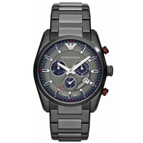 Emporio Armani Sportivo Gent's Stainless Steel Chronograph Round Watch AR6037 Thumbnail 1