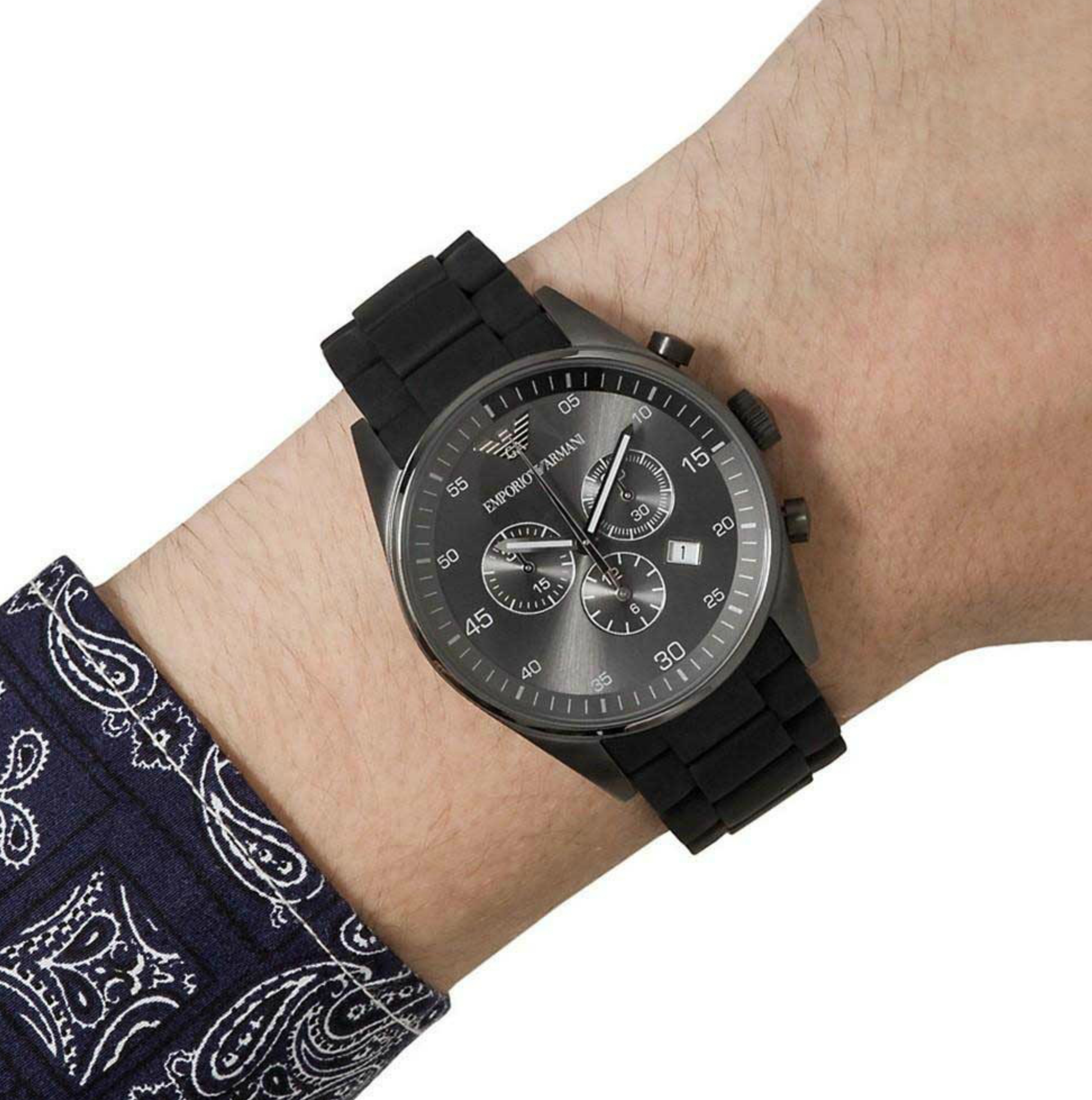 arriving newest great fit Emporio Armani Sportivo Men's Watch AR5889?Chronograph Black ...