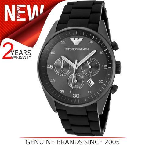 Emporio Armani Sportivo Men's Watch?Chronograph Black Dial?Stainless Band?AR5889 Thumbnail 1