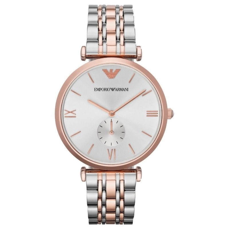 Emporio Armani Men's Stainless Steel Rose Gold Bracelet Sunray Dial Watch AR1677