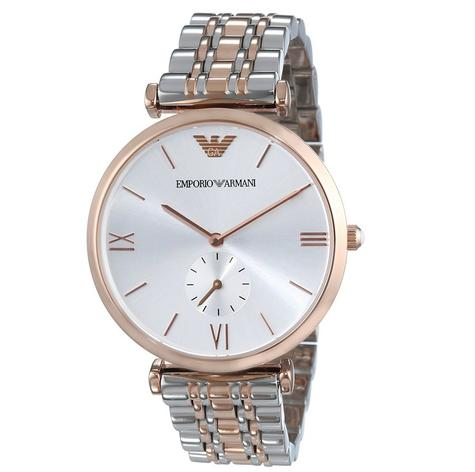Emporio Armani Men's Stainless Steel Rose Gold Bracelet Sunray Dial Watch AR1677 Thumbnail 5