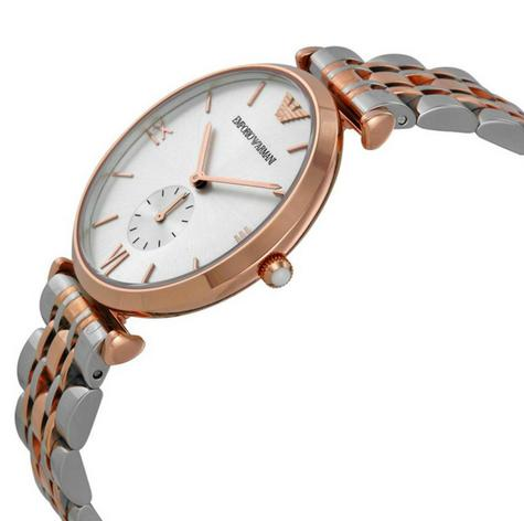Emporio Armani Men's Stainless Steel Rose Gold Bracelet Sunray Dial Watch AR1677 Thumbnail 2