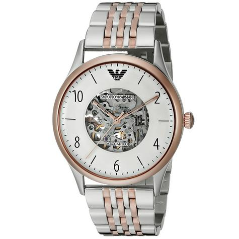 Emporio Armani Men's Stainless Steel Case Dual Tone Transparent Analog Watch Thumbnail 1