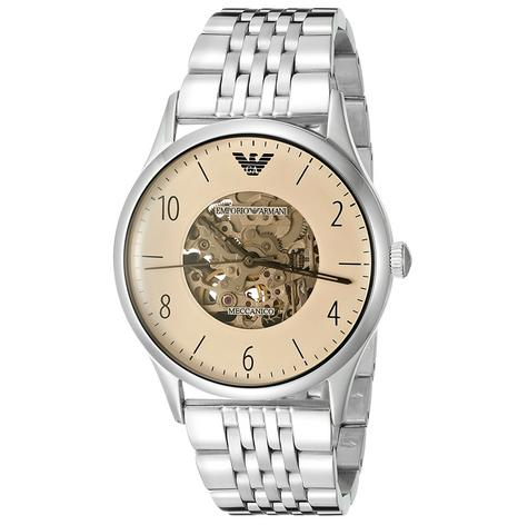 Emporio Armani MECCANICO Series Men's Automatic Stainless Steel Watch AR1922 Thumbnail 1