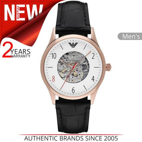 Emporio Armani Mens Watch?White Round Dial?Leather Strap?Stainless Steel?AR1924 Thumbnail 1