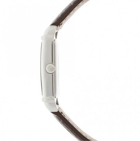 Emporio Armani Marco Small Women's Brown Leather Strap Analog Wrist Watch AR0491 Thumbnail 2