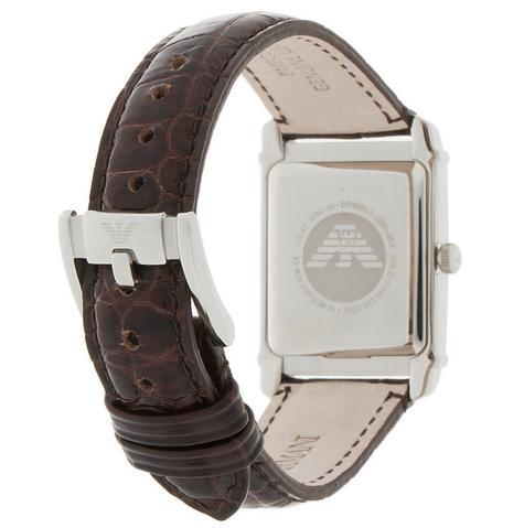 Emporio Armani Marco Small Women's Brown Leather Strap Analog Wrist Watch AR0491 Thumbnail 3