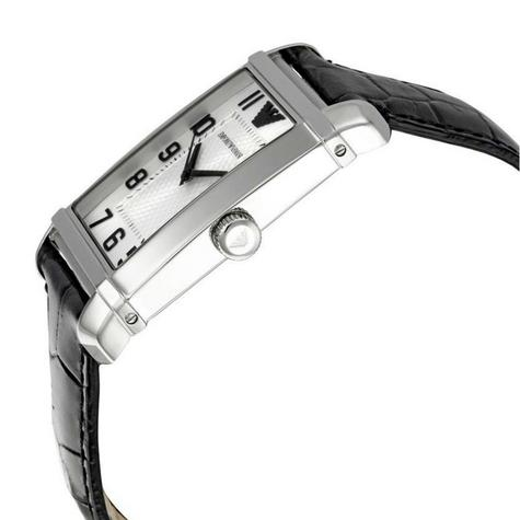 Emporio Armani Classic Men's Formal Watch|Silver Dial|Black Leather Strap|AR0486 Thumbnail 3