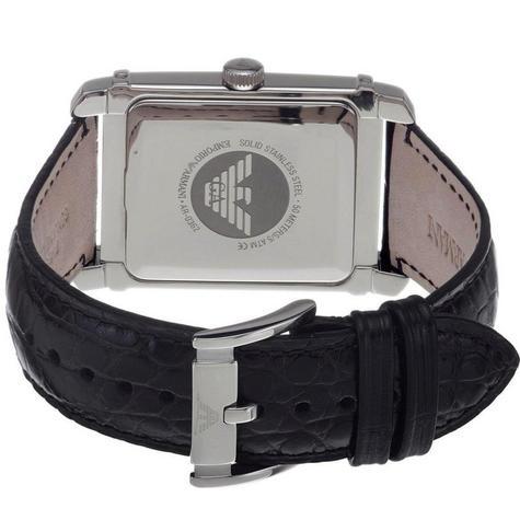 Emporio Armani Classic Men's Analog Watch|Black Dial|Black Leather Strap|AR0362 Thumbnail 3