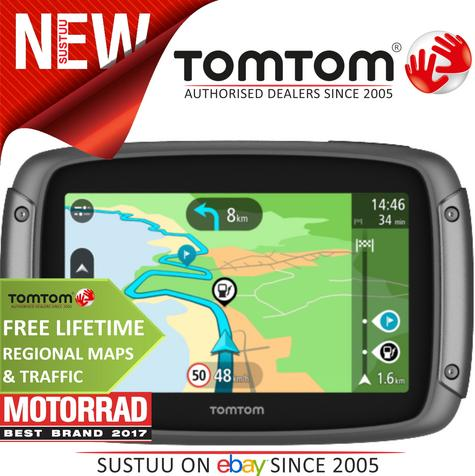 TomTom Rider 42|Motorcycle Bike GPS SatNav|2018 Lifetime UK WEEurope Map+Traffic Thumbnail 1