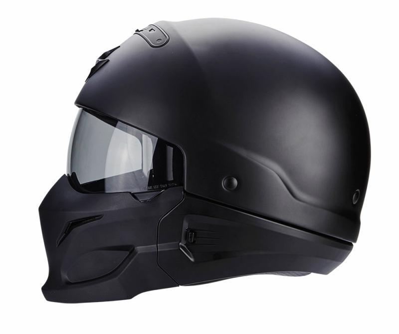 Reithelme & -schutzkleidung Scorpion Exo Bekämpfung Mattschwarz Motorrad Reit- & Fahrsport-Artikel Offener Helme │ Ece 22.05 │ Groß
