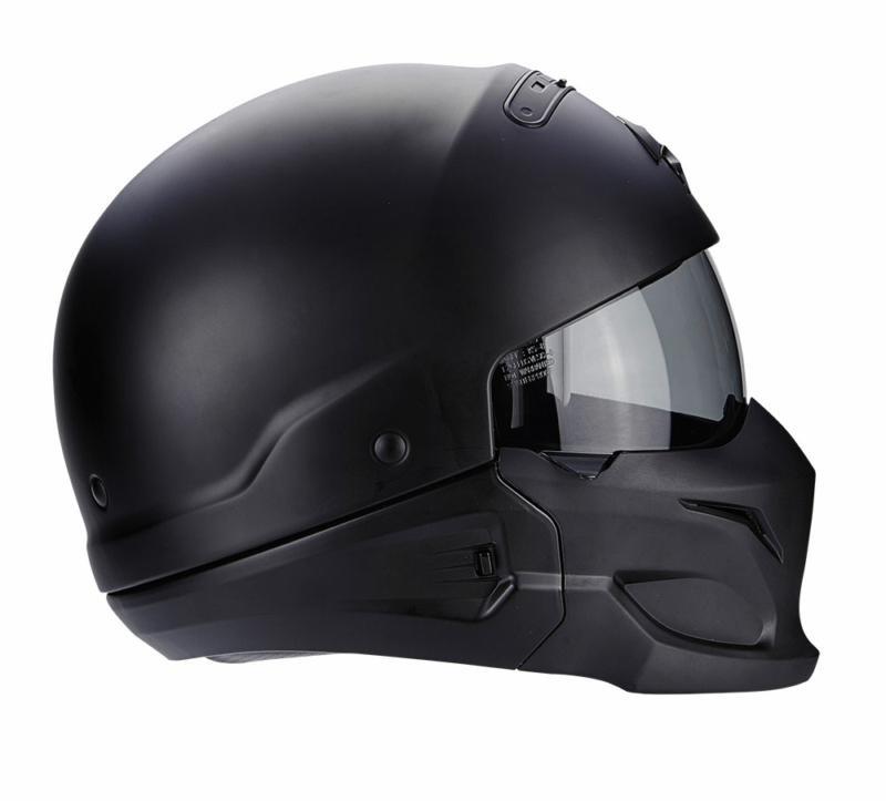 Reithelme Reit- & Fahrsport-Artikel Scorpion Exo Bekämpfung Mattschwarz Motorrad Offener Helme │ Ece 22.05 │ Groß
