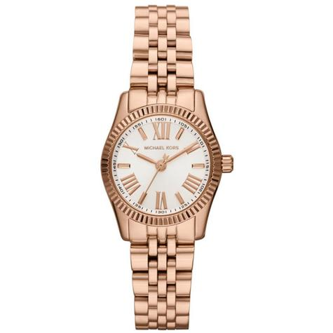 Michael Kors Lexington White Dial Rose Gold Bracelet Design Ladies Watch MK3230 Thumbnail 1