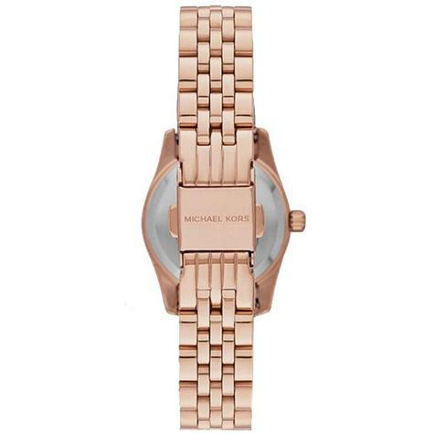 Michael Kors Lexington White Dial Rose Gold Bracelet Design Ladies Watch MK3230 Thumbnail 3
