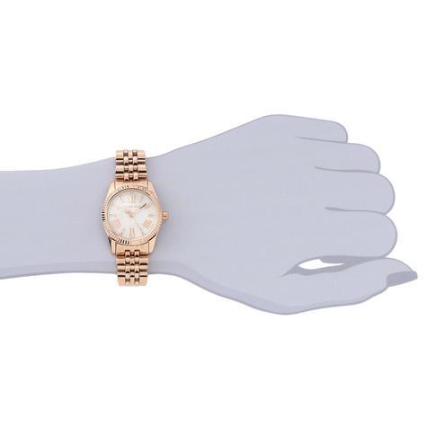 Michael Kors Lexington Ladies White Dial Rose Gold Bracelet Round Watch MK3230 Thumbnail 6