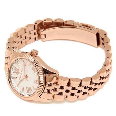 Michael Kors Lexington White Dial Rose Gold Bracelet Design Ladies Watch MK3230 Thumbnail 5