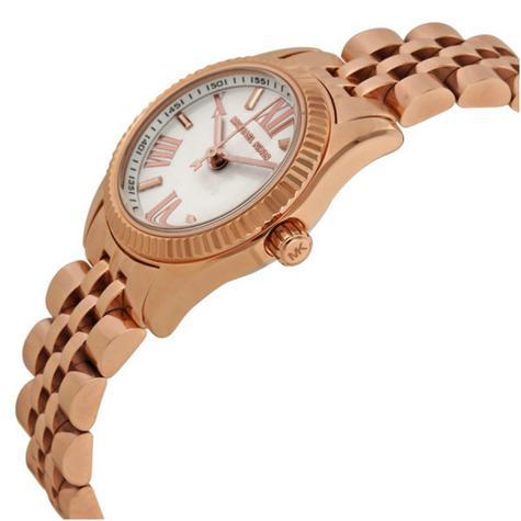 Michael Kors Lexington White Dial Rose Gold Bracelet Design Ladies Watch MK3230 Thumbnail 2