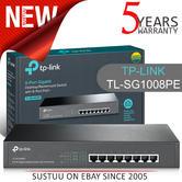 TP-Link TL-SG1008PE|8-Port Gigabit Desktop/Rack Switch with 8-Port PoE|Plug & Play