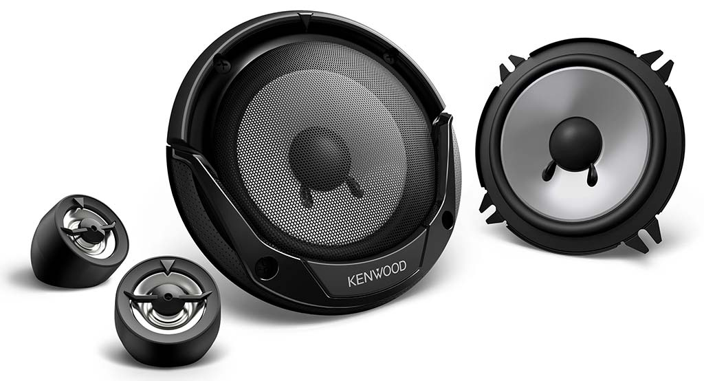 """KENWOOD KFC-E130P 13cm 5.25"""" 250W In Car Vehicle Audio Component System Speakers"""
