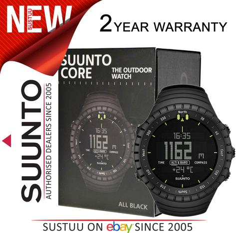 Suunto Core ALL BLACK Outdoor Military Altimeter Barometer Compass Sports Watch Thumbnail 1