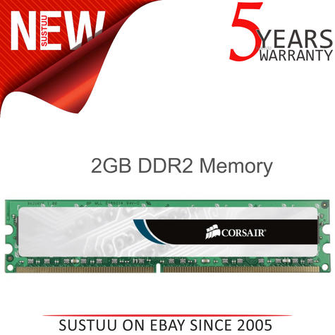 Corsair 2GB (1x2GB) DDR2 DIMM Desktop Memory Kit | RAM Module | 800 Mhz | 1.8 Voltage Thumbnail 1