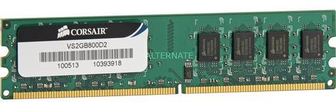 Corsair 2GB (1x2GB) DDR2 DIMM Desktop Memory Kit | RAM Module | 800 Mhz | 1.8 Voltage Thumbnail 4