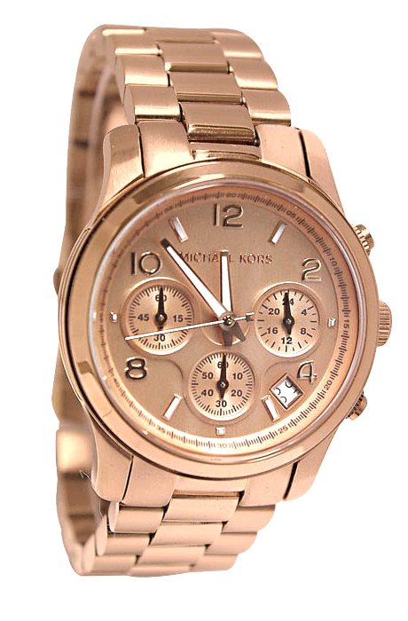 Michael Kors Ladies' Woman's Rose Gold Runway Chronograph ...
