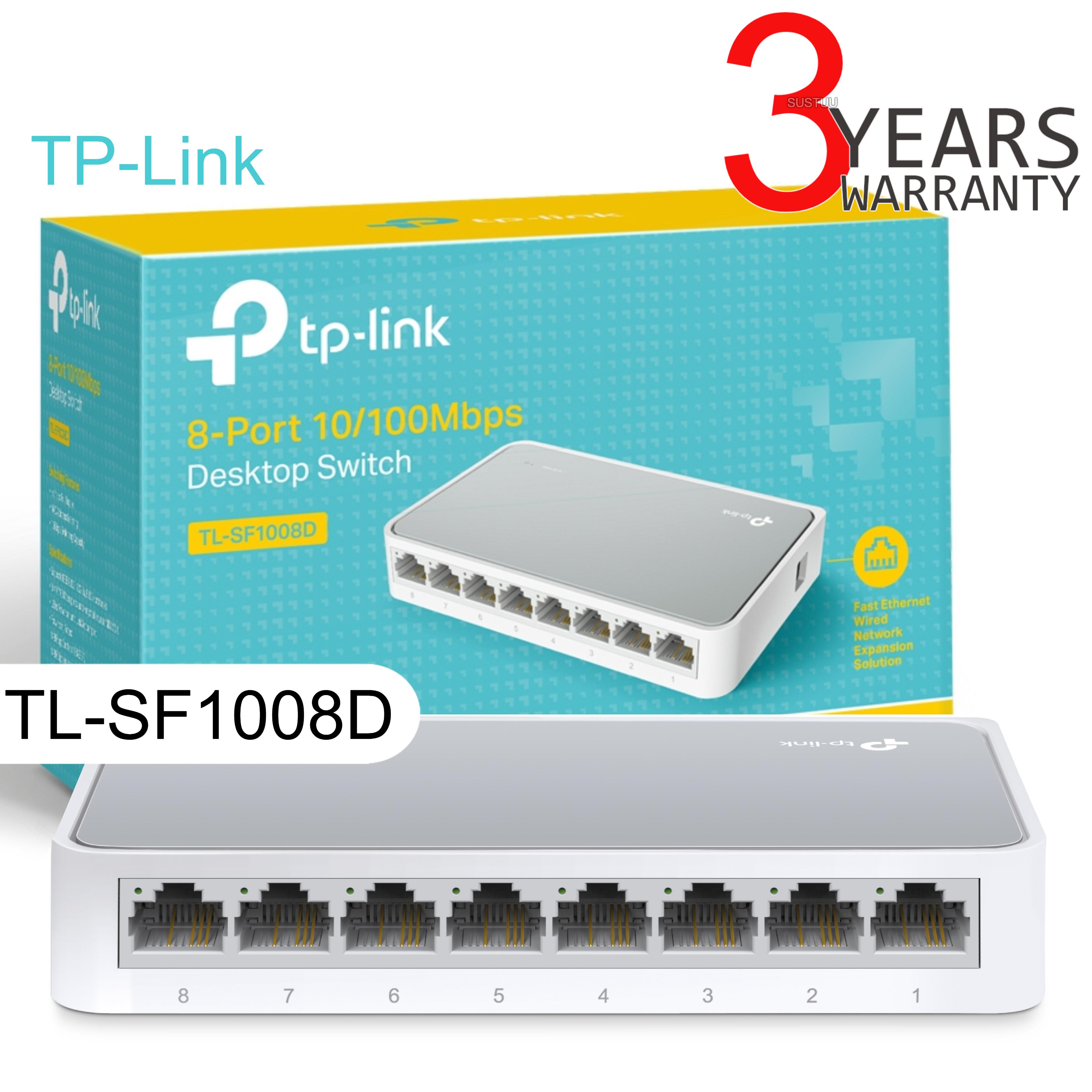 TP-Link TL-SF1008D V10│8-Ports 10/100Mbps Desktop Switch│IEEE ...
