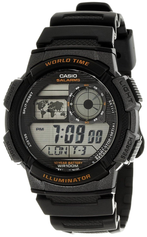 Casio Gents Digital World Time Alarm Stopwatch Sports Watch Ae 1000w Original 1avdf 1avef New Thumbnail