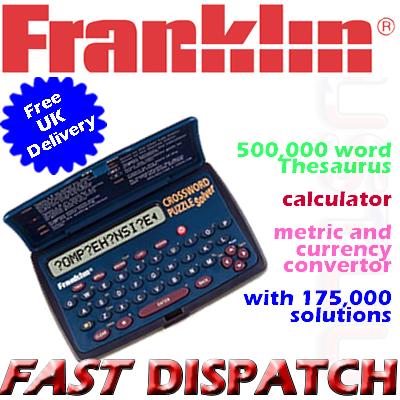 franklin cwm108 crossword puzzle solver brand new sustuu