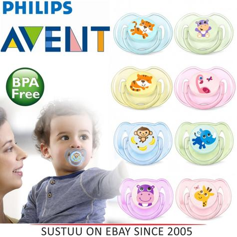 Philips Avent Classic Baby Animal Silicon Soother Dummy 0-6 & 6-18m BPA Free Thumbnail 1