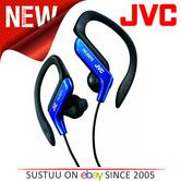 JVC HAEB75A Sports Ear Clip Earphones with Adjustable Clip - Blue
