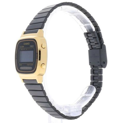 Casio Ladies' Digital Watch?Gold Plated Retro Shape-Black Dial?LA670WEGB-1BEF Thumbnail 3