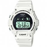 Casio Men's White Illuminator Digital Chrono Round  Sports Watch W-214HC-7AVEF