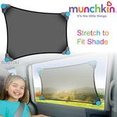 Munchkin Stretch to Fit Car Window Sun Shade|Sun Heat Protection Pad For Kids|