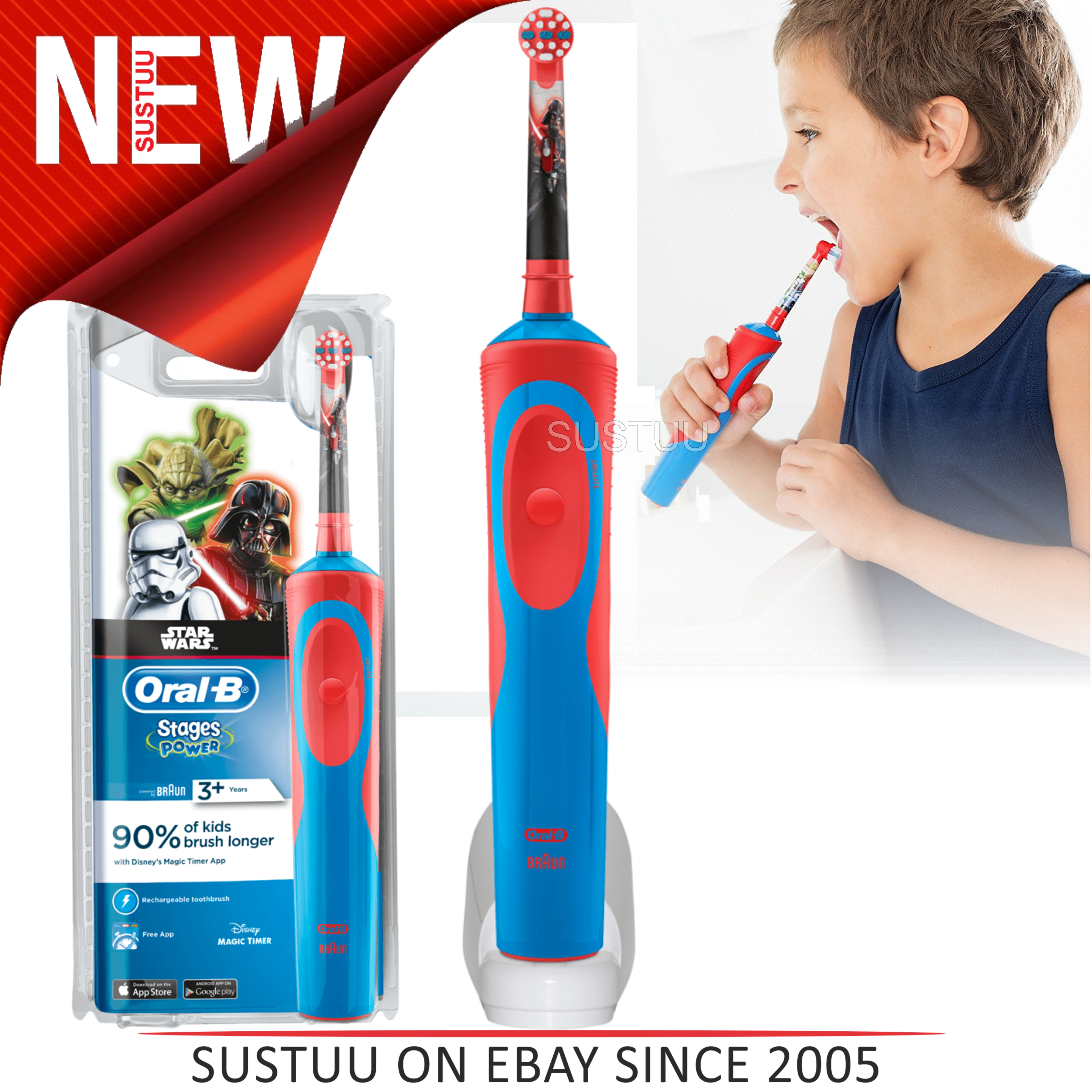 Sentinel Oral-B Stages Power Kids Rechargeable Electric Toothbrush│Star Wars  Characters 0c9351299201