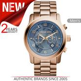 Michael Kors Hunger Stop Men's Watch | Rose Gold Case | Blue Stylish Dial | MK8358