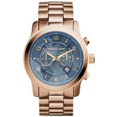 Michael Kors Runway Hunger Stop Oversized Rose Gold Dial Stylish Watch MK8358