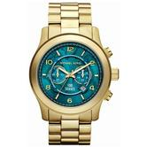 Michael Kors Hunger Stop Oversized Runway Gold Tone Stainless Steel Watch MK8315