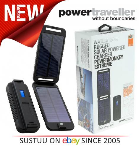 Powertraveller Powermonkey Waterproof Rugged Portable Charger?SOLAR Powered  NEW Thumbnail 1
