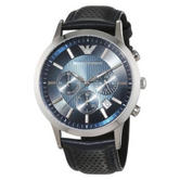 Armani Men's|Stainless Steel Case|Round Blue Dial|Chrono Design Watch|AR2473|
