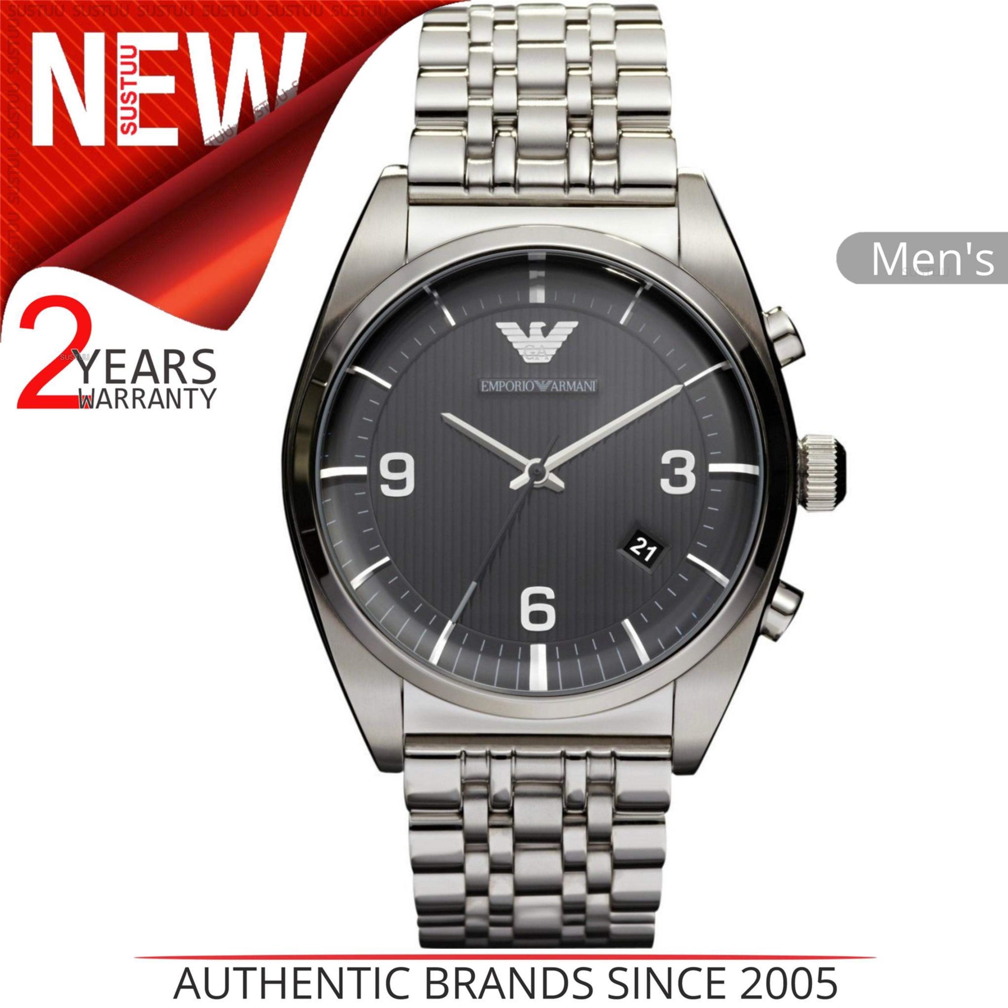 SENTINEL Nero Watch│Analog in acciaio Dial│Stainless Strap│AR0369 degli  uomini di Emporio ca11643bfa