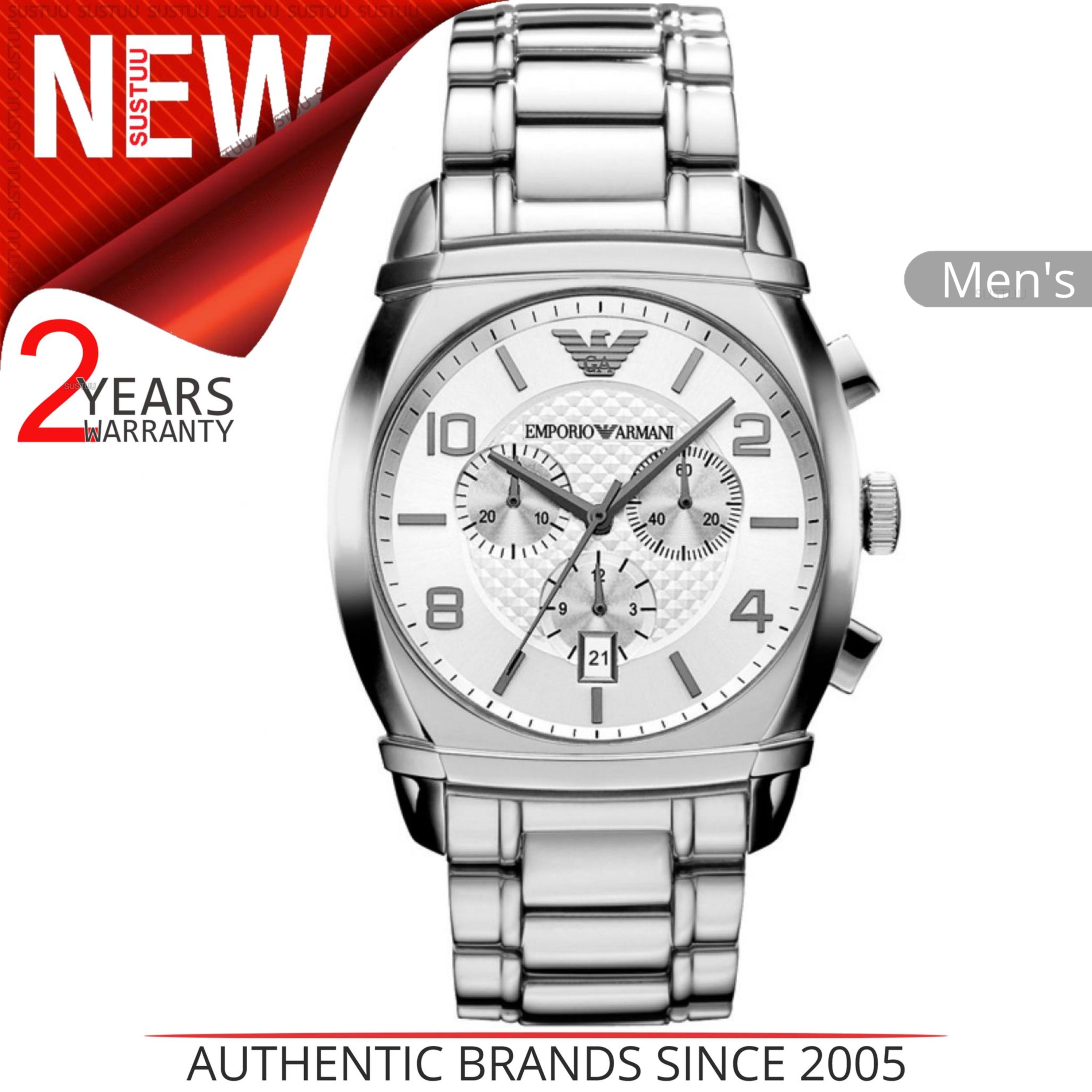 SENTINEL Watch│Round Cronografo Dial│Stainless Strap│AR0350 Emporio Armani  classico maschile c7f921680d
