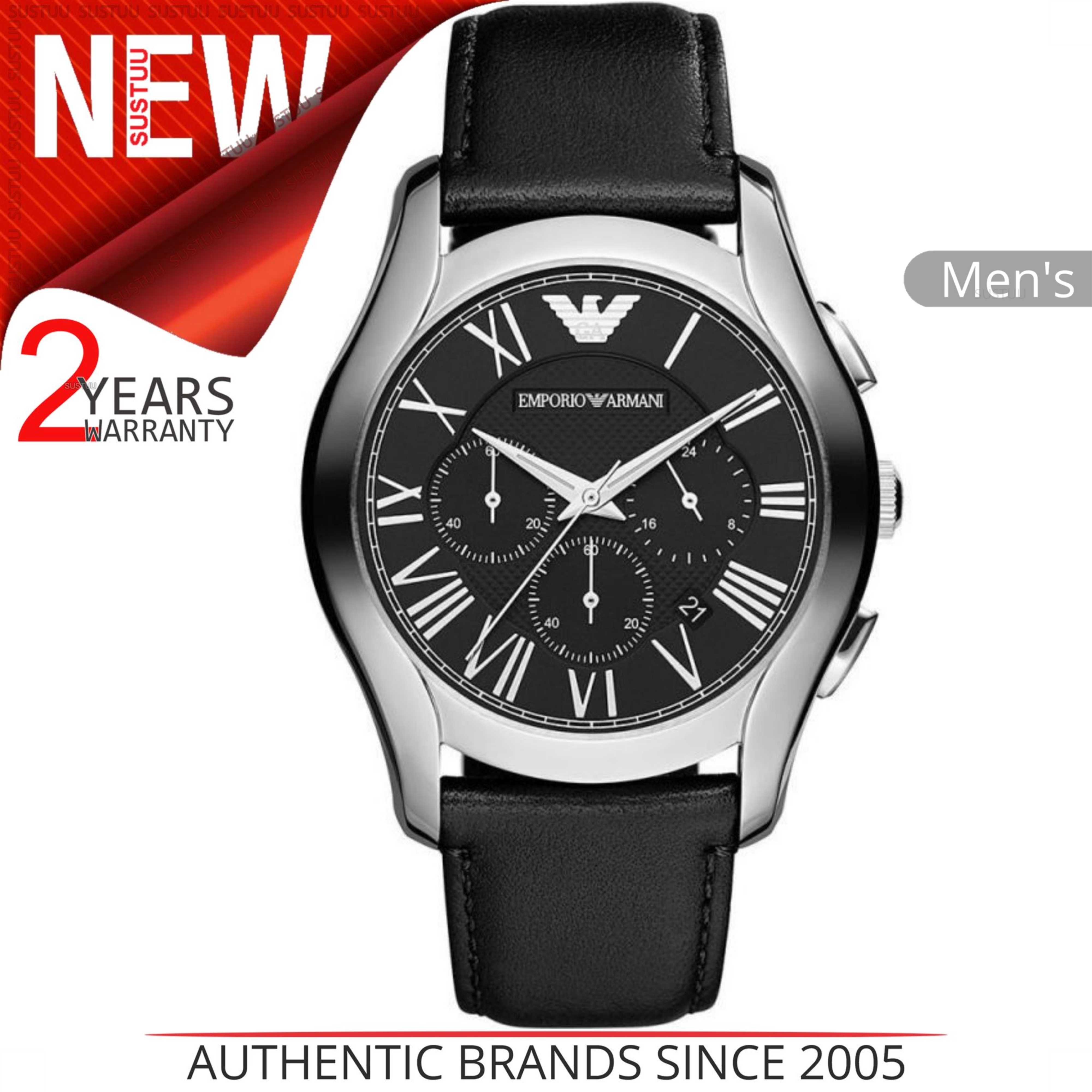 7575fa7f7ea4 CENTINELA Reloj Emporio Armani Classic para hombre AR1700│ Cronógrafo  Número romano│ Dial negro