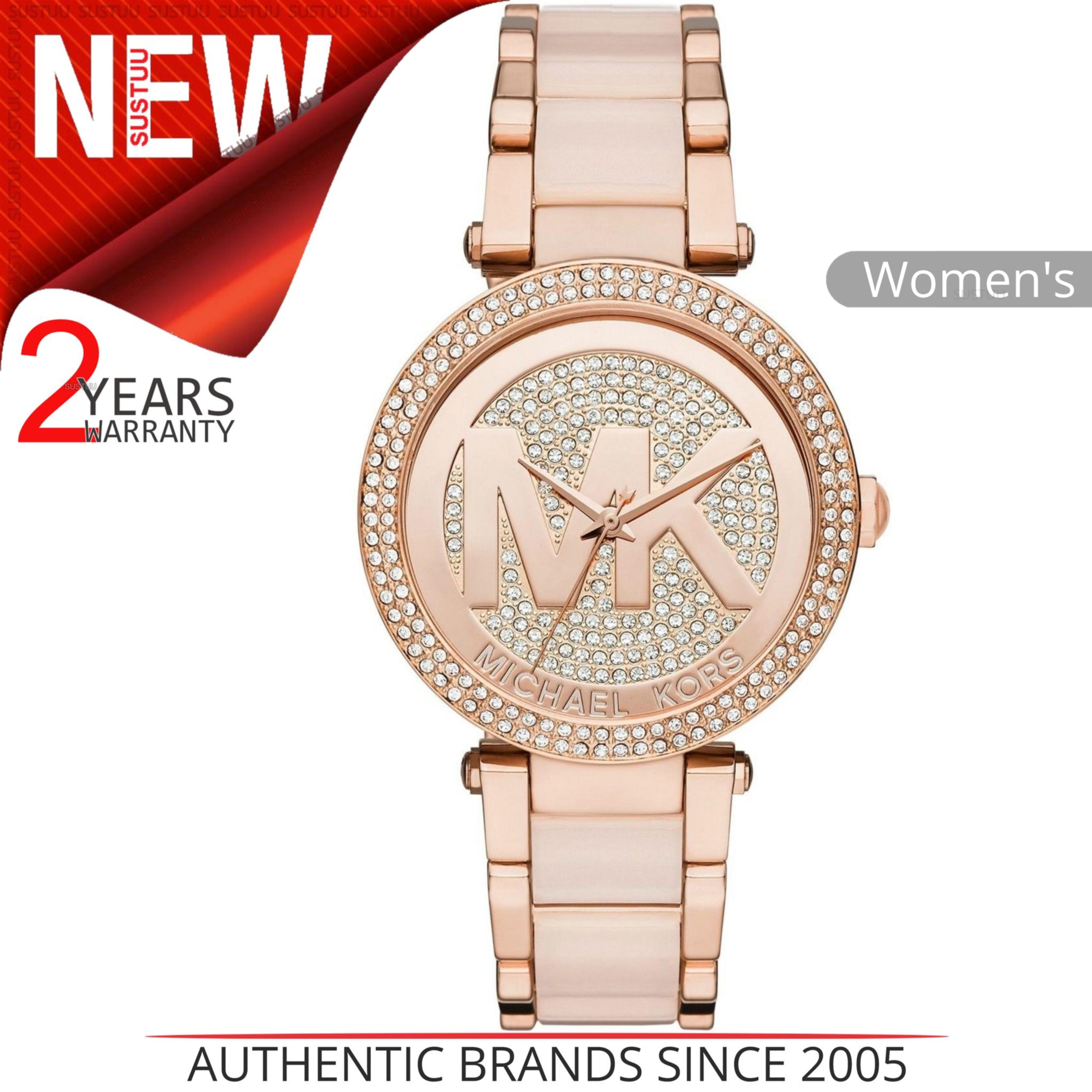 4f5951db840 Sentinel Michael Kors Parker Ladies  Watch│Crystal Pave MK Logo Dial│Bracelet  Band│