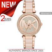 Michael Kors Parker Ladies' Watch|Crystal Pave MK Logo Dial|Bracelet Band|MK6176
