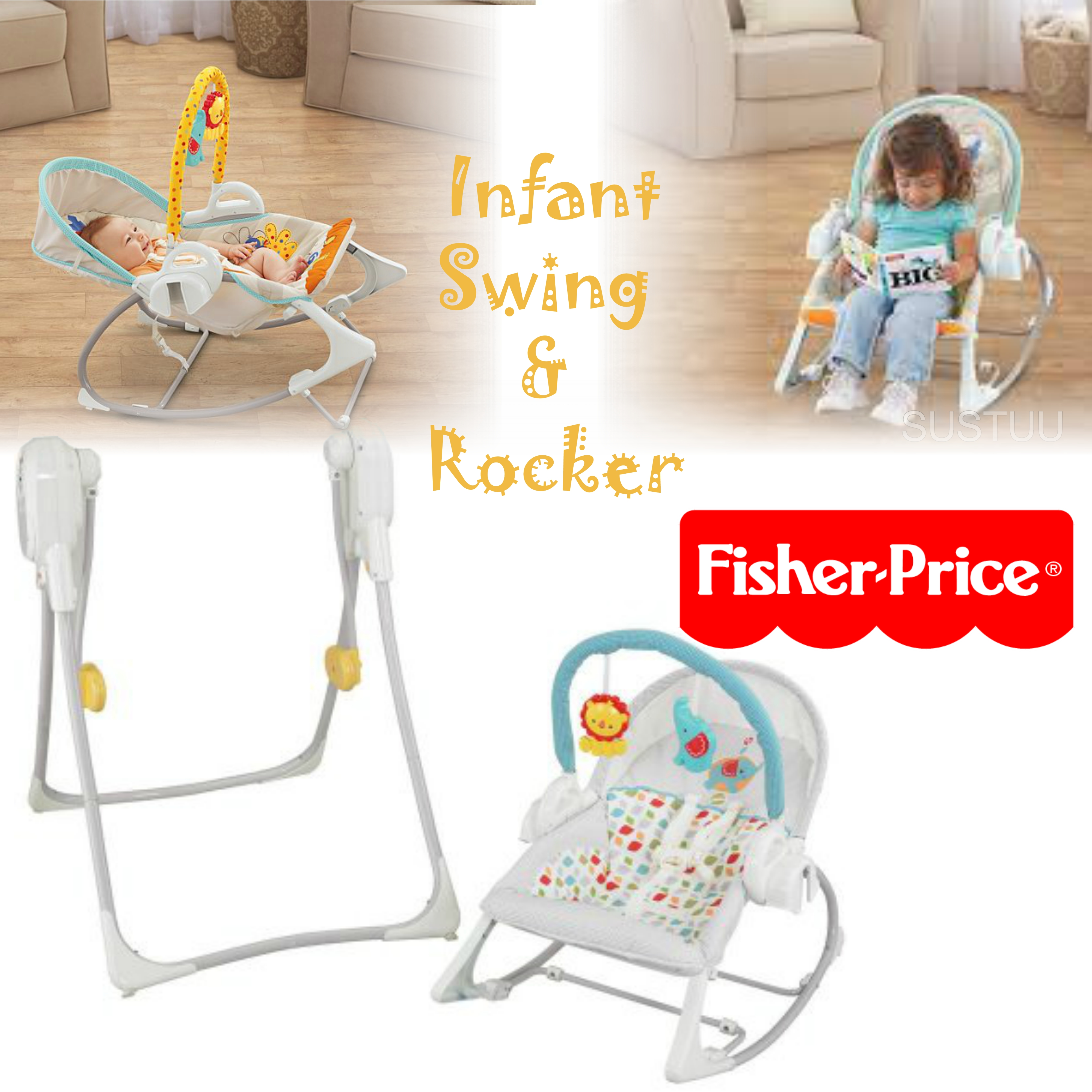 fisher price 3 in 1 swing n rocker infant seat nature sound baby