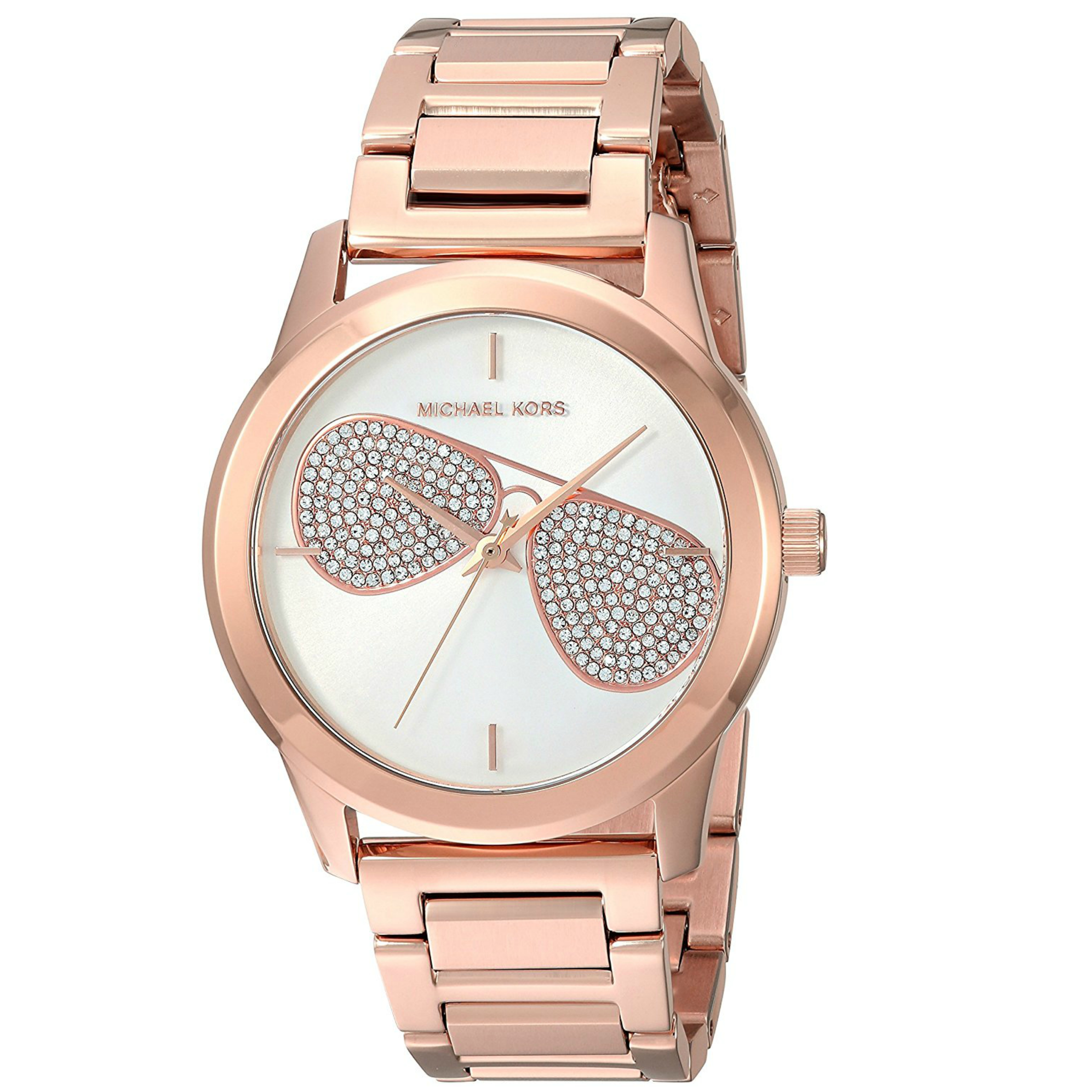 eb2a13e11878 michael kors hartman ladies silver dial rose gold tone designer watch mk3673