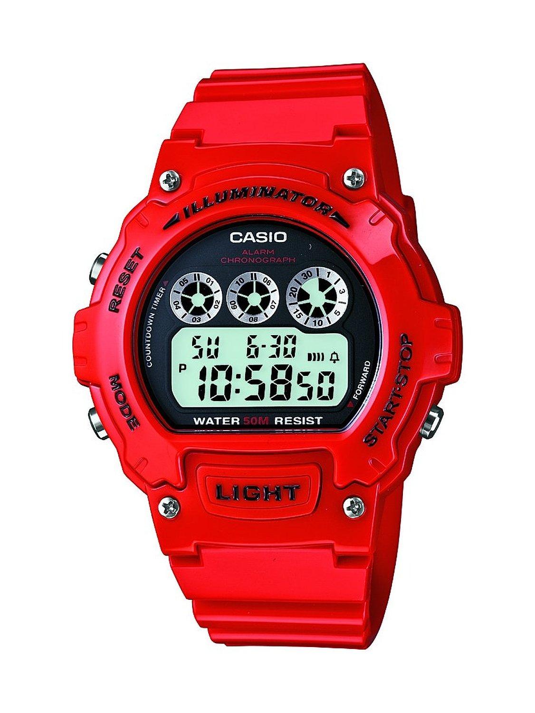 Casio Mens Red Digital Illuminator Sports Red W 214hc 4avef