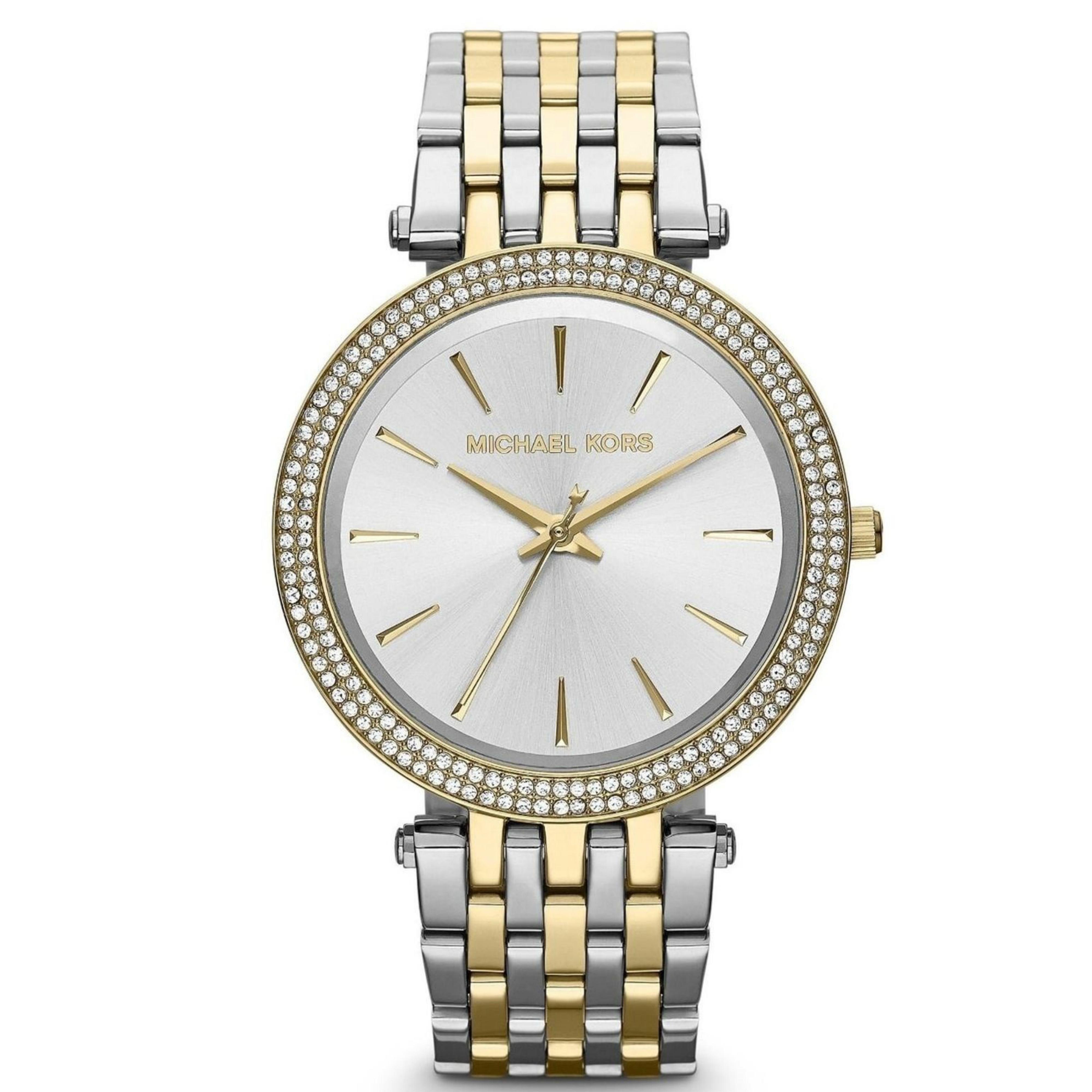 7cce9ce61bce michael kors darci stainless steel dial two tone ladies bracelet watch  mk3215